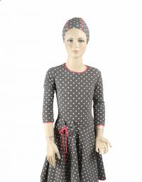 Front- new polka dots dress modest swim dress for girls