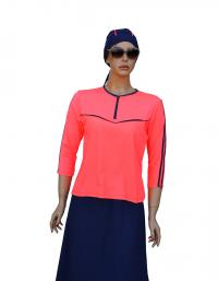 Front-sun jogger coral modest swimset